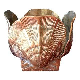 Brass Shell Planter