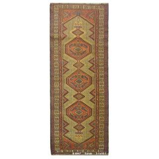 Vintage Persian Sarab Rug - 3'1'' x 10'1''
