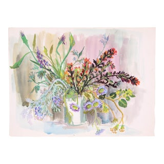 Wildflower Still Life c. 1950 by Edith Alder