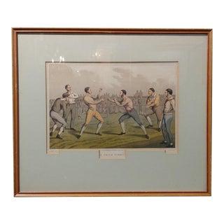 19th Century Antique English Boxing Print