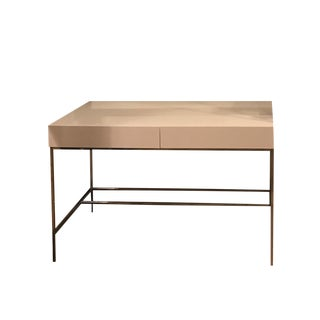 West Elm White Lacquer Storage Desk