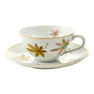 Autumn Leaf Porcelain Cup & Saucer