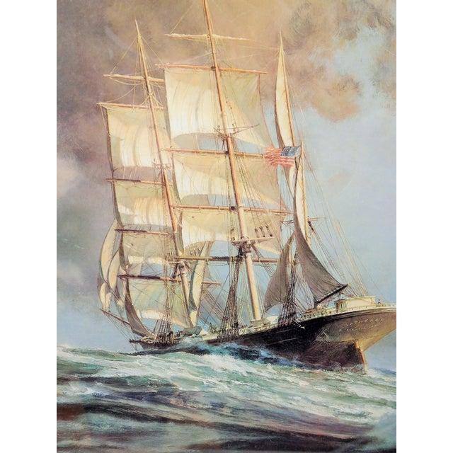 "Image of John Stobart Print, ""Gatherer Before the Wind"""