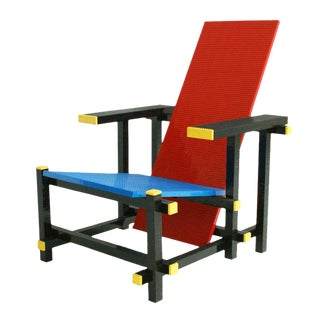Droog Design Red and Blue Lego Chair