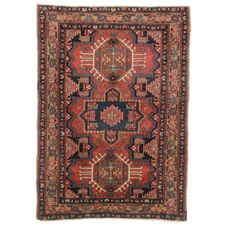 Antique Persian Karajeh Wool Rug - 3′3″ × 4′4″