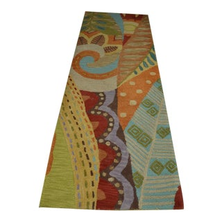 Attractive Carpet Runner in Multi-Colored Deco Pattern
