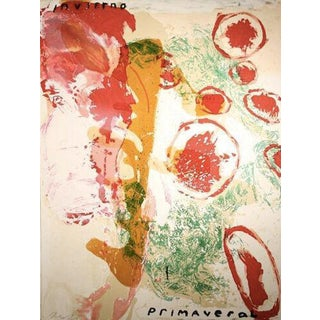 Invierno Primaveral, screen print by Julian Schnabel
