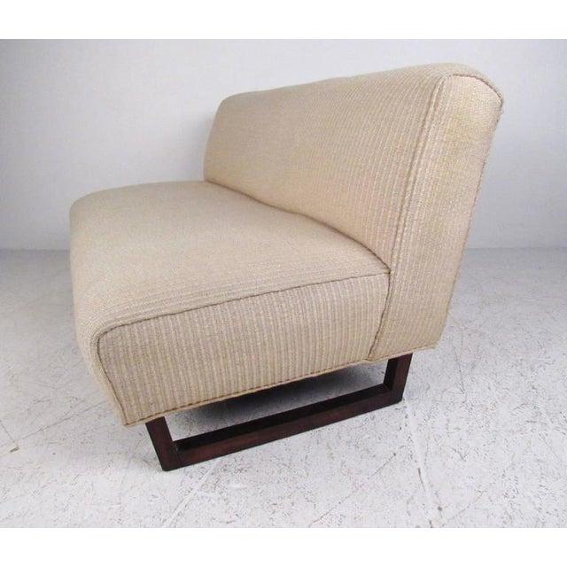 Vintage Modern Sled Leg Slipper Sofas - A Pair - Image 5 of 10