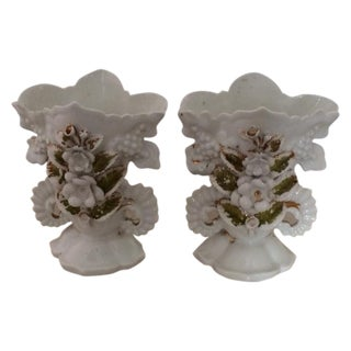 Vieux Paris Wedding Vases - A Pair