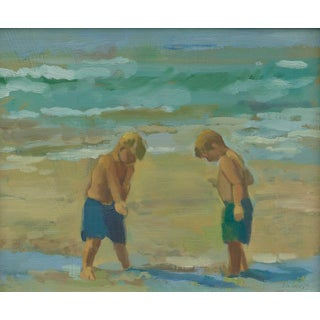 """Boys at the Beach"" Painting by Amy Griffith Colley"