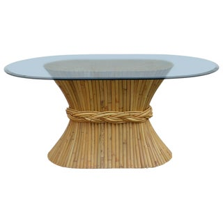 McGuire Oval Sheaf of Wheat Dining Table