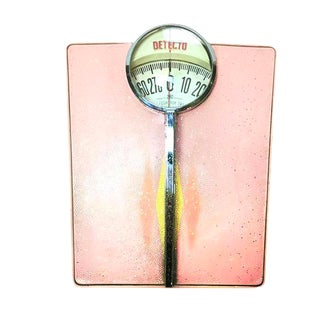 Vintage 1950s Classic Pink Detecto Bathroom Scale