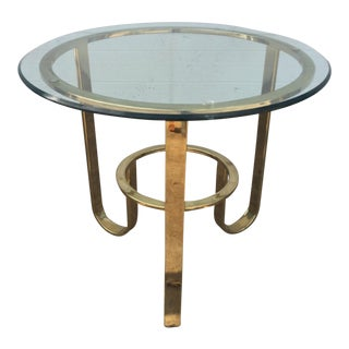 Modern Brass Flat Bar Table