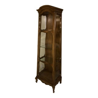 Louis XV Style Walnut Display Cabinet