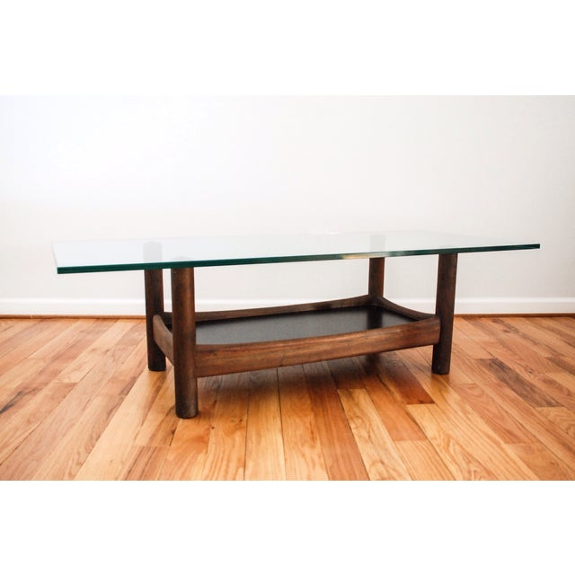 Mid-Century Teak and Glass Coffee Table - Image 3 of 6