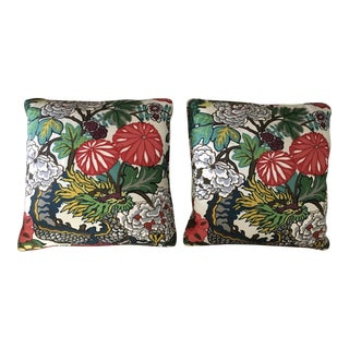 Schumacher Chiang Mai Dragon Alabaster Pillows - Pair