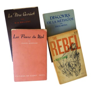 Vintage French Paperback Books - Set of 5