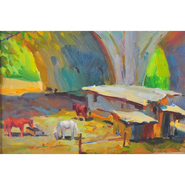 Ovanes Berberian Under the York Bridge Painting - Image 2 of 10