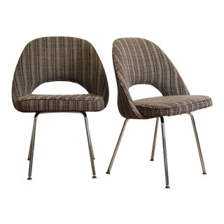 Eero Sarinen Style Pair of Mid Century Side Chairs for Knoll
