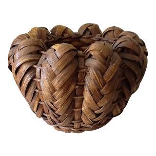 Bohemian Wood Bulbous Basket Vessel