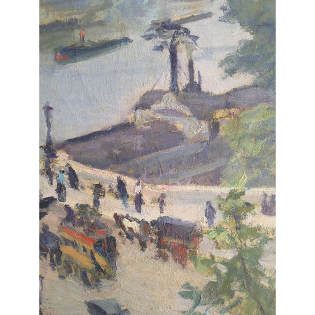 Impressionism Paris: Impressionist Paris View French Oil Painting By Biloul