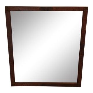 Antique Burl Wood Mirror