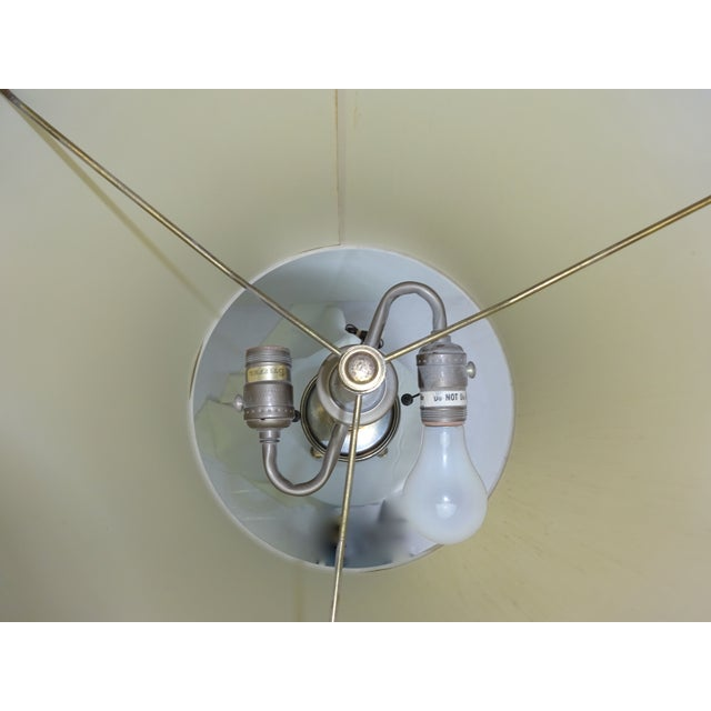 Circa 1960 Faux Bamboo Enamel Table Lamp - Image 9 of 9