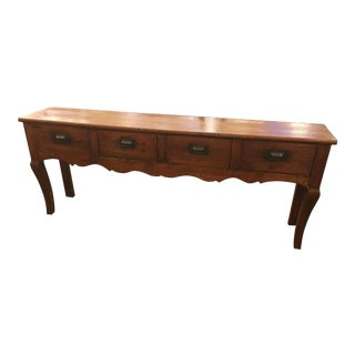 Vintage Extra Long Pine Console Table