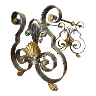 Wrought Iron Brass Claw Foot Dining Table Base