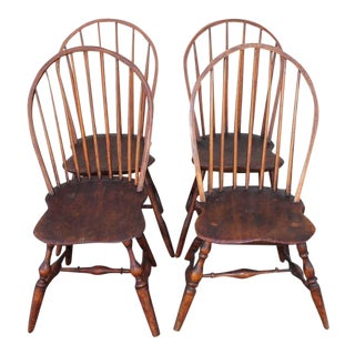 Set of Four Accumulated 19th Century Windsor Chairs