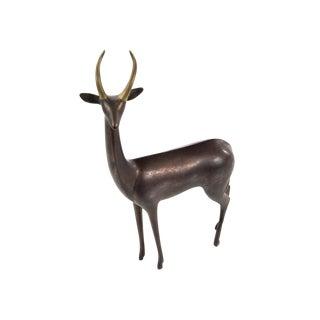 Standing Antelope Bronze Sculpture