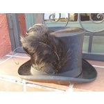 Image of Victorian Beaver Top Hat With Feather