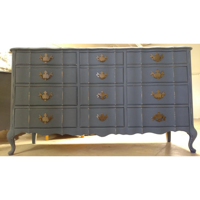 Navy French Provincial Dresser - Image 2 of 6