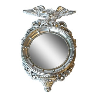 Syroco Style Silver Federal-Style Convex Eagle Mirror by Homco