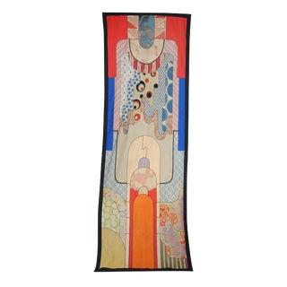 1970s Vintage Art Deco Handmade Tapestry