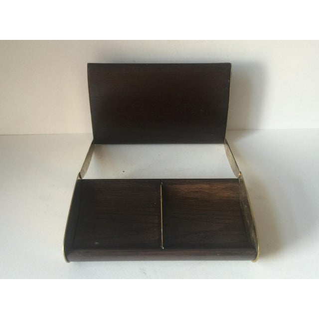 Image of Wood and Brass Box