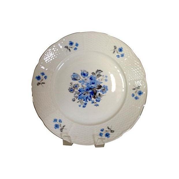 Image of Vintage Blue & White Floral Bohemia China - 18
