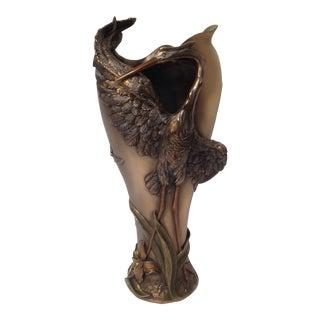 Art Nouveau Crane Vase