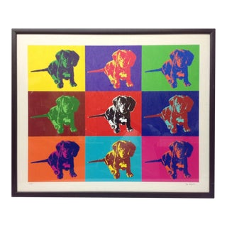 Pop Art Dachshund Puppy Signed Artists Proof