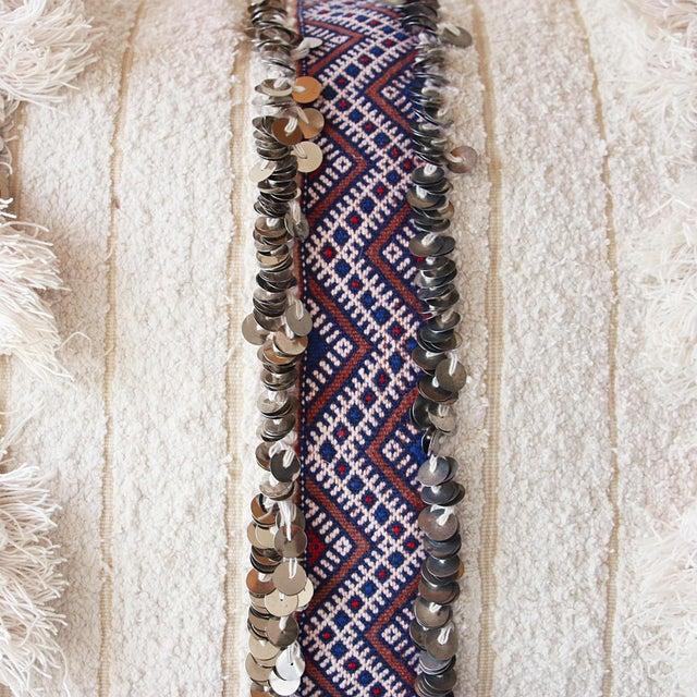 Moroccan Handira Wedding Blanket Pillow VII - Image 6 of 8