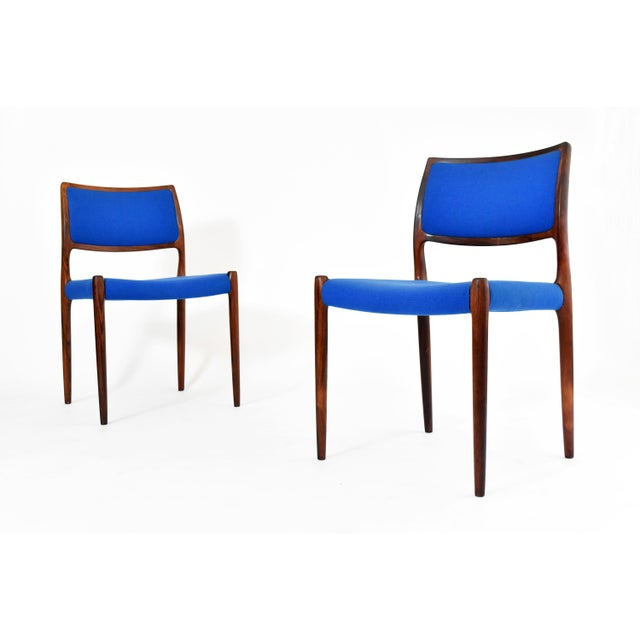 Danish Modern Niels Moller #80 Rosewood Dining Chairs - Set of 4 - Image 3 of 10