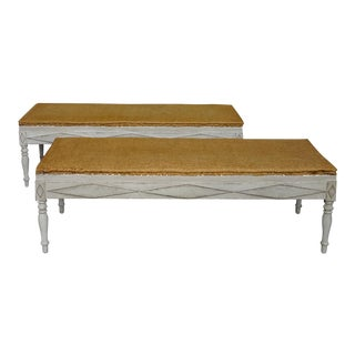 Rare Pair of Freestanding Benches (#63-24)