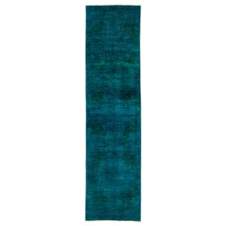 """Vibrance Over Dyed Hand Knotted Runner - 3'0"""" X 11'8"""""""