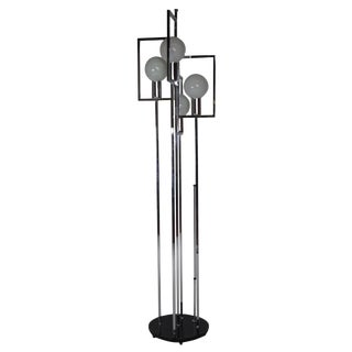 60s Reggiani Italian Chrome Floor Lamp