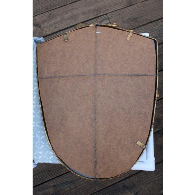 Dorothy Draper Style Gilt Bow & Shield Mirror - Image 5 of 6