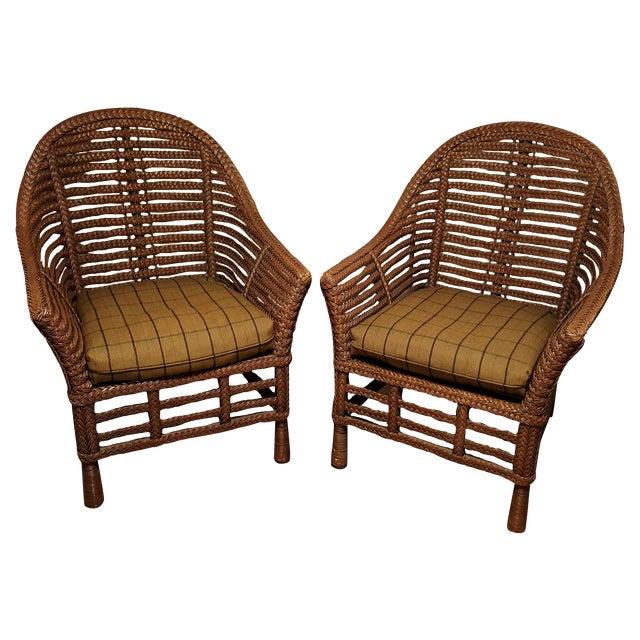 Ralph Lauren Wicker Chair - Image 1 of 6