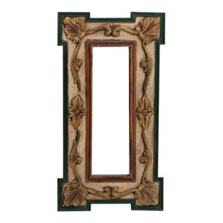 Antique Gold French Painted Mirror