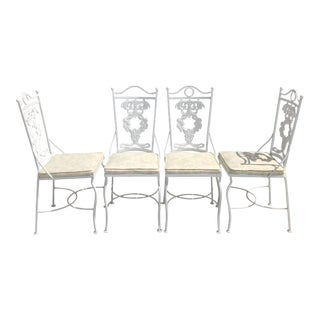 Vintage Cast Aluminum Dining Chairs - Set of 4