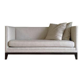 Light Gray Upholstered Settee