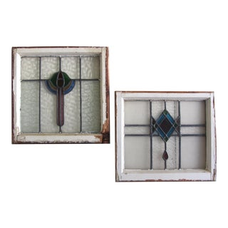 Stained Glass Window Frames - A Pair